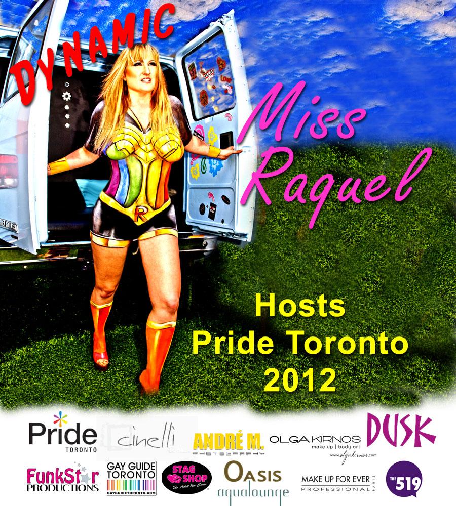 """= """"Miss Raquel Pride 2012 TheGayGuideNetwork.com"""""""